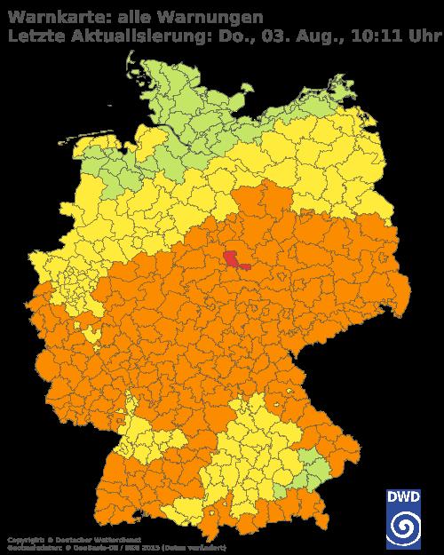 Aktuelle Wetterwarnungen für Berlin