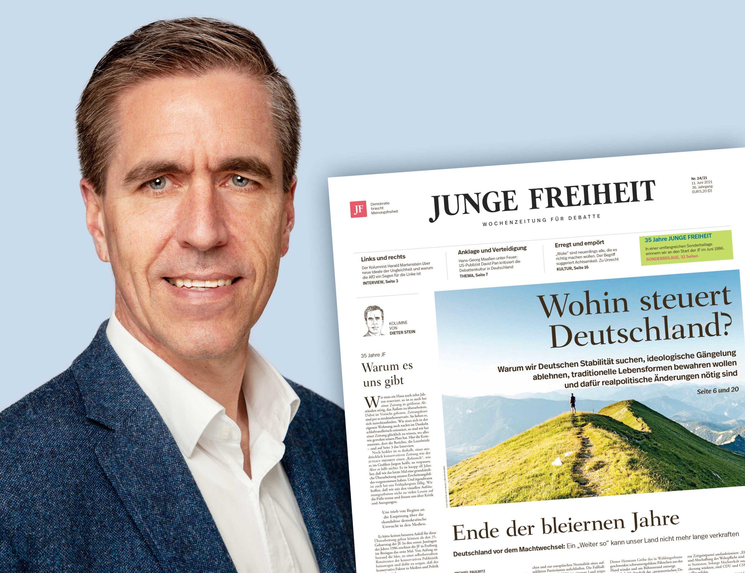 Dieter Stein mit Titelseite