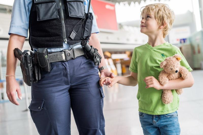 Polizei Kind